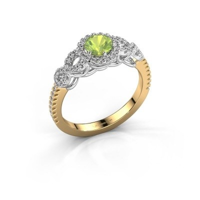 Engagement ring Sasja 585 gold peridot 5 mm