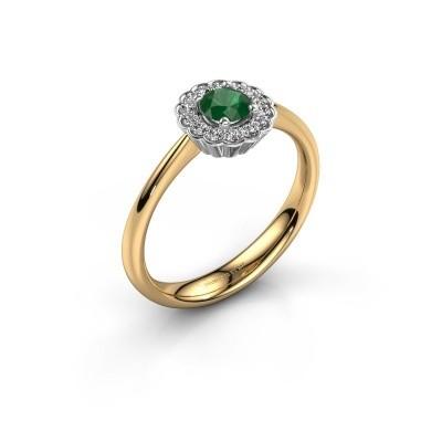 Verlovingsring Debi 585 goud smaragd 4.2 mm