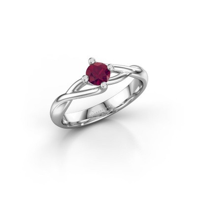 Photo de Bague Paulien 585 or blanc rhodolite 4.2 mm