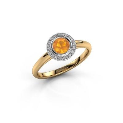 Promise ring Noud 1 RND 585 goud citrien 4.7 mm