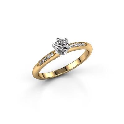 Verlobungsring{ucf Tiffy 2 585 Gold Diamant 0.25 crt