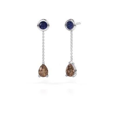 Oorhangers Laurie 3 585 witgoud bruine diamant 0.65 crt