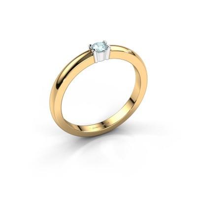 Foto van Promise ring Yasmin 1 585 goud aquamarijn 2.7 mm
