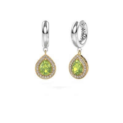 Picture of Drop earrings Barbar 1 585 gold peridot 8x6 mm