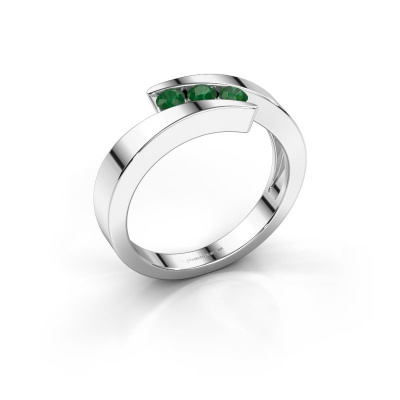 Picture of Ring Gracia 925 silver emerald 2.7 mm