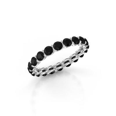 Foto van Ring Kirsten 2.9 585 witgoud zwarte diamant 2.28 crt