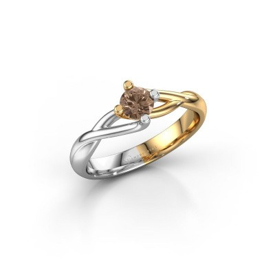Picture of Ring Paulien 585 gold brown diamond 0.30 crt