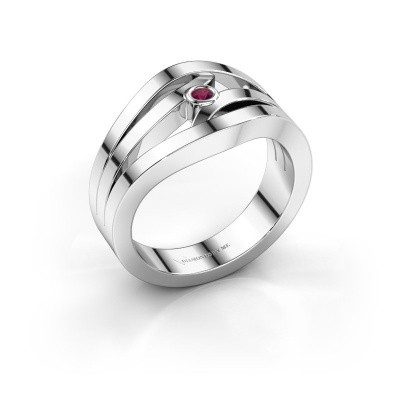 Ring Carlijn 925 Silber Rhodolit 2 mm