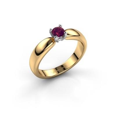 Promise ring Katrijn 585 goud rhodoliet 4.2 mm