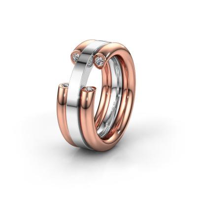 Ehering WH6018L 585 Roségold Lab-grown Diamant ±8x3 mm