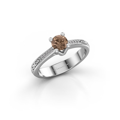 Picture of Engagement ring Mei 950 platinum brown diamond 0.449 crt