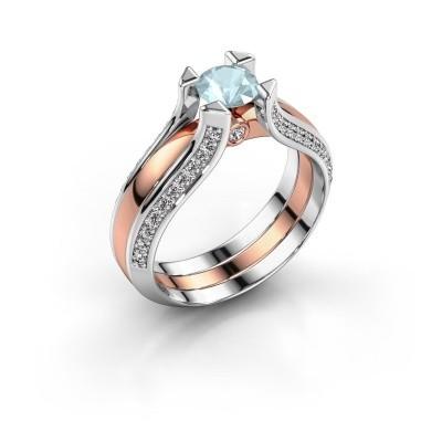 Engagement ring Nadine 585 rose gold aquamarine 5 mm