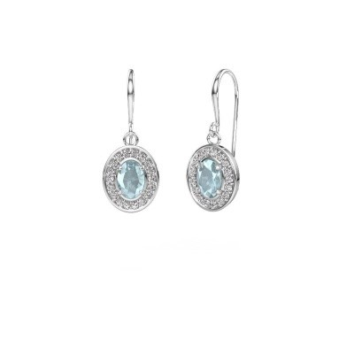 Picture of Drop earrings Layne 1 585 white gold aquamarine 6.5x4.5 mm