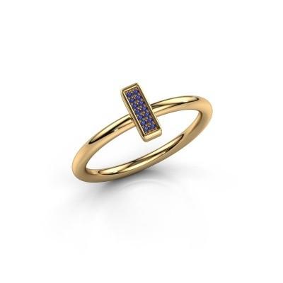 Ring Shape stripe small 375 goud saffier 0.8 mm