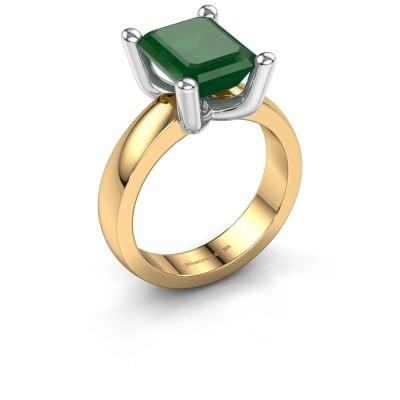 Ring Clelia EME 585 goud smaragd 10x8 mm