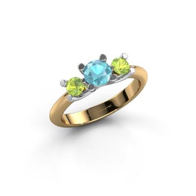Ring Mirthe 585 Gold Blau Topas 5 mm