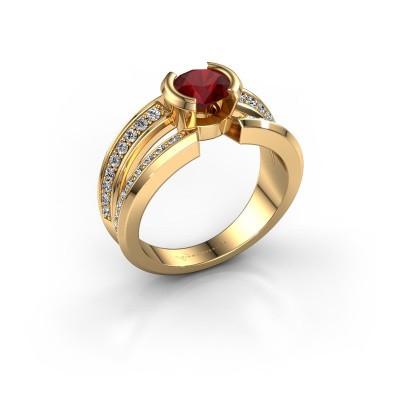 Foto van Heren ring Rowan 585 goud robijn 6.5 mm