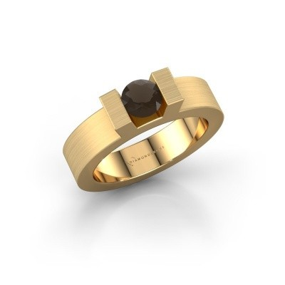 Foto van Ring Leena 1 375 goud rookkwarts 5 mm