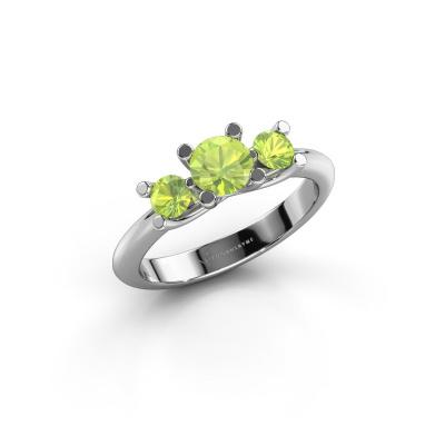 Ring Mirthe 925 silver peridot 5 mm