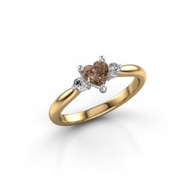 Foto van Verlovingsring Lieselot HRT 585 goud bruine diamant 0.61 crt