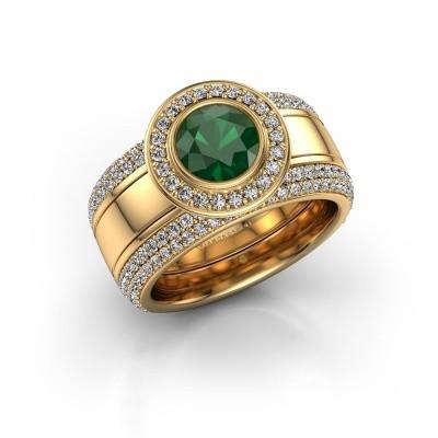 Foto van Ring Roxie 585 goud smaragd 6.5 mm