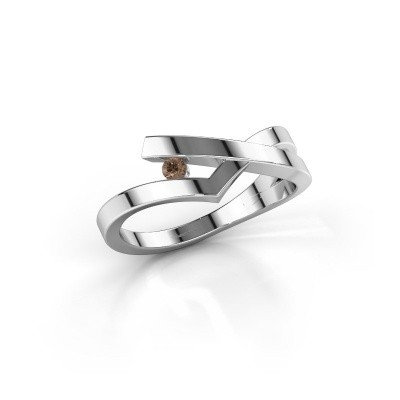 Ring Pamella 925 zilver bruine diamant 0.045 crt