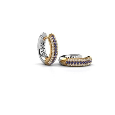 Picture of Hoop earrings Tristan B 14 mm 585 gold sapphire 1 mm