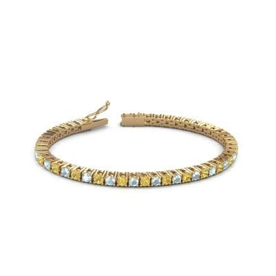 Tennisarmband Jenny 375 goud gele saffier 3.5 mm