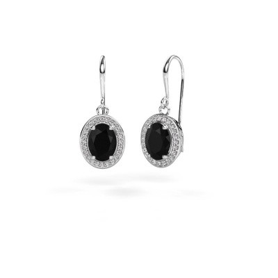 Oorhangers Latesha 950 platina zwarte diamant 3.000 crt