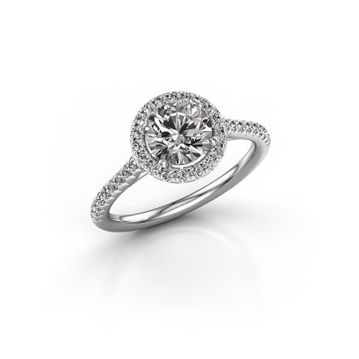 Picture of Engagement ring Seline rnd 2 925 silver zirconia 6.5 mm