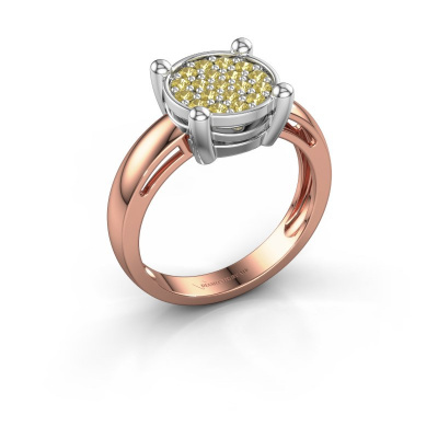 Ring Dina 585 rose gold yellow sapphire 1.6 mm