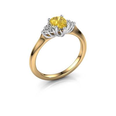Verlobungsring Felipa per 585 Gold Gelb Saphir 7x5 mm
