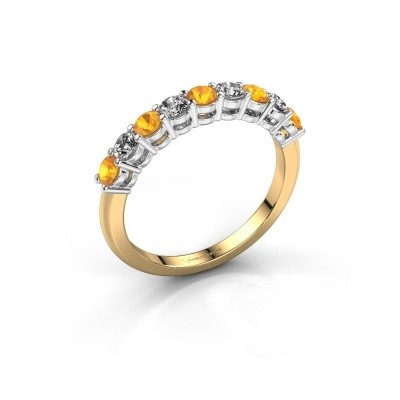 Picture of Engagement ring Michelle 9 585 gold citrin 2.7 mm