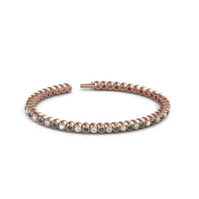 Foto van Tennisarmband Patrica 375 rosé goud smaragd 2.4 mm