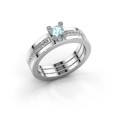 Bild von Ring Alisha 925 Silber Aquamarin 4 mm