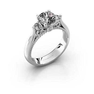 Verlovingsring Tiffani 925 zilver diamant 1.24 crt