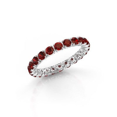 Picture of Ring Vivienne 2.7 585 white gold garnet 2.7 mm
