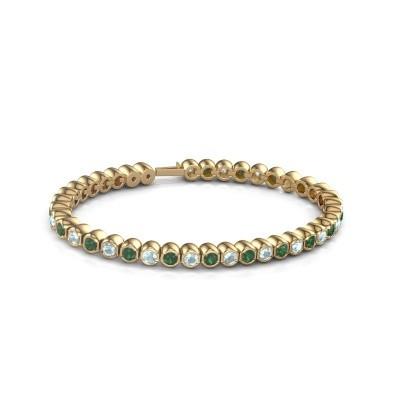 Foto van Tennisarmband Mellisa 375 goud smaragd 3.5 mm