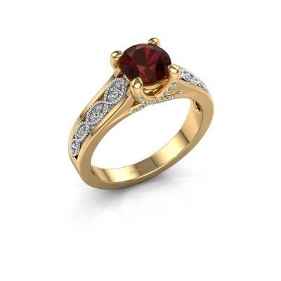 Engagement ring Clarine 585 gold garnet 6.5 mm