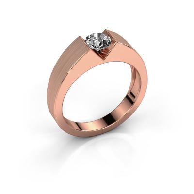 Verlovingsring Lizzy 1 585 rosé goud diamant 0.50 crt
