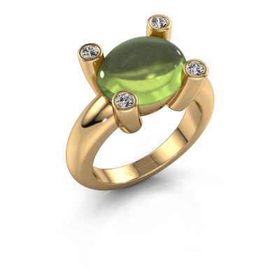 Ring Janice OVL 585 gold peridot 12x10 mm