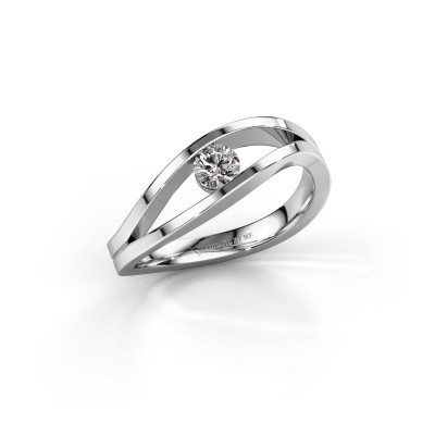 Engagement ring Sigrid 1 585 white gold lab-grown diamond 0.20 crt