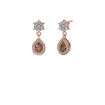 Drop earrings Era 585 rose gold brown diamond 1.43 crt