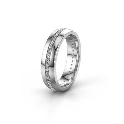 Trouwring WH0103L25BP 950 platina diamant ±5x2 mm