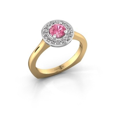 Foto van Ring Kanisha 1 585 goud roze saffier 5 mm