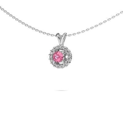 Pendant Tennille 585 white gold pink sapphire 4 mm