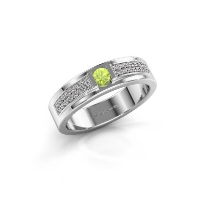 Picture of Ring Chanell 925 silver peridot 3 mm