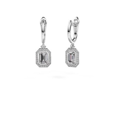 Photo de Pendants d'oreilles Noud EME 585 or blanc diamant 0.70 crt