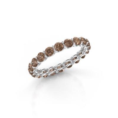 Foto van Ring Kirsten 2.9 950 platina bruine diamant 1.90 crt