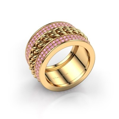 Foto van Ring Jayda 375 goud roze saffier 1.2 mm